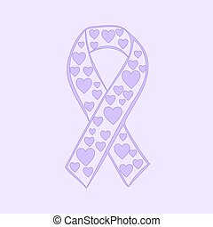 Lavender ribbon heart epilepsy cancer solidarity day