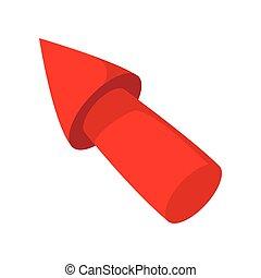 Red arrow render cartoon icon