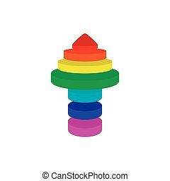 Arrow up in pyramid format - Illustration of colorful arrow...