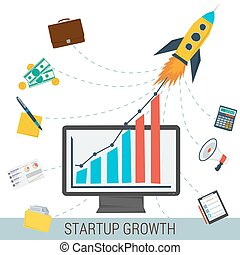 Startup growth concept