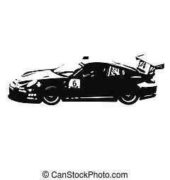 Sports car vector illustration, side view