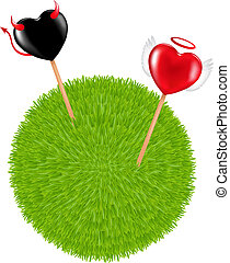 Two Lollipops in a Grass Ball