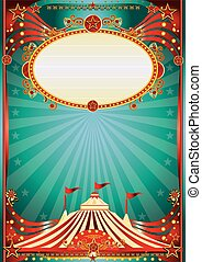 blue and red magic circus background
