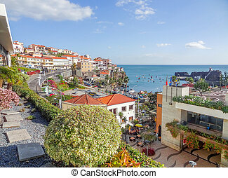 Funchal in Madeira - scenery around Funchal, a city of the...