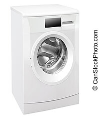 A washing machine isolated on white background