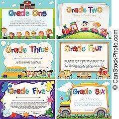 Diploma templates for primary school