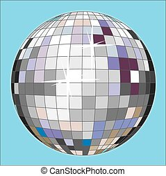 disco ball - a colorful disco ball for a party night