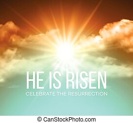 He is risen. Easter background. Vector illustration EPS10