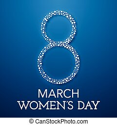 Trendy Design Template.  Womens day
