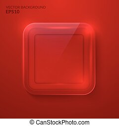 Glass framework. Vector illustration. Eps10 - Square glass...