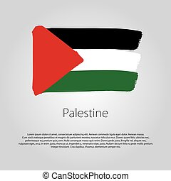 Palestine Flag with colored hand drawn lines in Vector Format