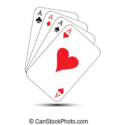 Playing Cards- game objects , vector illustration.