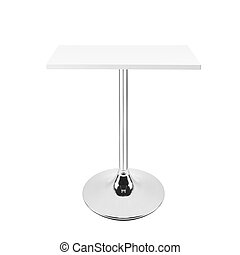 table isolated on white