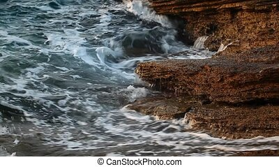 Thassos island - Sea water and rocks in Thassos island,...
