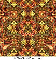 Seamless tile pattern in vivid warm colors - Seamless tile...
