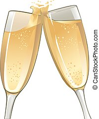 Champagne Glasses - an illustration of two champagne glasses...
