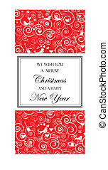 Christmas and New Years Card - The vector file is easy to...