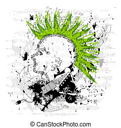 Grungy PunkEmo Vector - The vector file is easy to edit with...