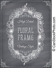 Vector blackboard frame decoration - Vector frame decoration...