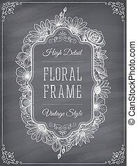 Vector blackboard frame decoration - Vector frame decoration...