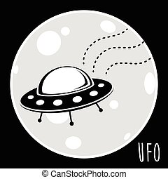 UFO unidentified flying object Flying saucer vector...