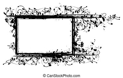 Inked Floral Frame for Your Text or Pictures - The vector...