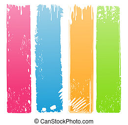 Variety of Modern Colored Grunge Banners
