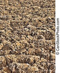Soil background - Freshly plowed soil before the seeding...