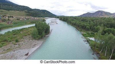 Bukhtarma River . Eastern Kazakhstan. - The Bukhtarma River...