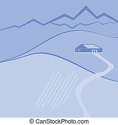wine farm blue edition - illustration of wine farm and wine...