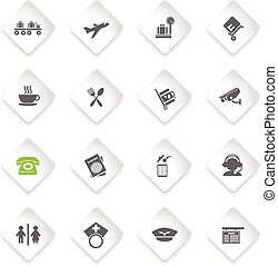 Airport icons set - Airport simply symbols for web and user...