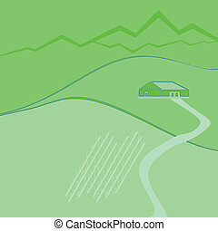 wine farm - illustration of wine farm and wine field on the...