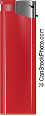 lighter - photo realistic red lighter on white background