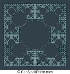 circle sacral geometry fractal structure background - vector...