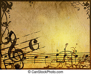 Abstract grunge melody textures and backgrounds - perfect...