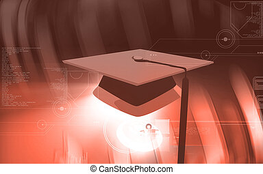 ceremonial hat in education - Illustration of a ceremonial...