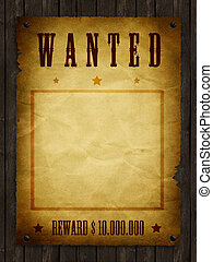 Wanted - an illustration of a wanted retro poster