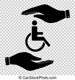 Protect symbol on the transparent background - Disabled...