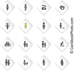 Family simply icons - Family simply symbols for web and user...