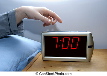 Wake up - switch off an alarm clock