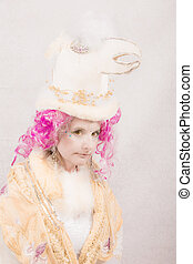 Surreal Character with Bird Hat - Surreal female circus...