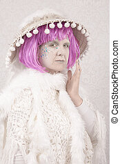 Surreal Character - Surreal female circus style character on...