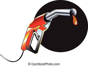 Fuel Nozzle and Gas station attendant - Fuel Nozzle object...