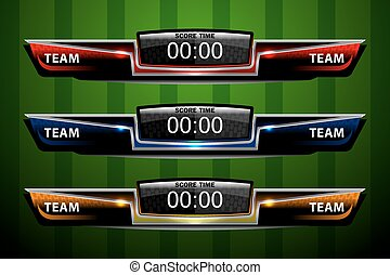 Vectors Illustration of Vector Soccer Scoreboard. Vector Template ...