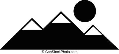 Mountain vector black icon.