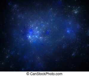 Blue cosmos - Abstract illustration of cosmos stars on a...