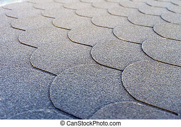 Roof shingles on a roof