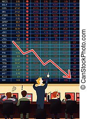 Economic Crisis Concept - A vector illustration of economic...
