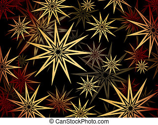 several stars - pattern in the manner of several stars...