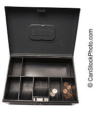 Bankruptcy Battered Old Cash Box Containing A Few Cents...